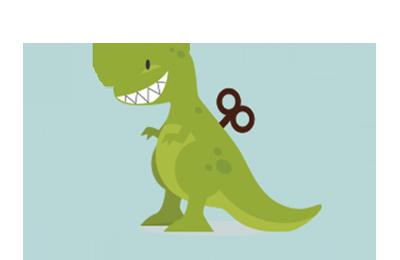Imagen de un dinosaurio de juguete