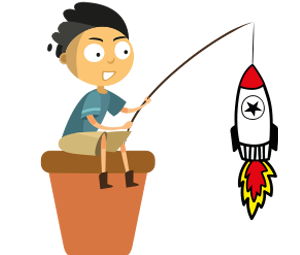 Dibujo Niño pescando